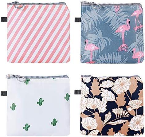 Artibetter 4PCS Napkins Bag Menstrual Cup Pouch Nursing Pad Holder Sanitary Napkin Cotton Bag product image
