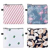 SUPVOX Sacchetto di tovaglioli sanitari da 4 pezzi tamponi per marsupi per mestruazioni raccolgono sacchetti portaspazzolino lavabile per donne e ragazze