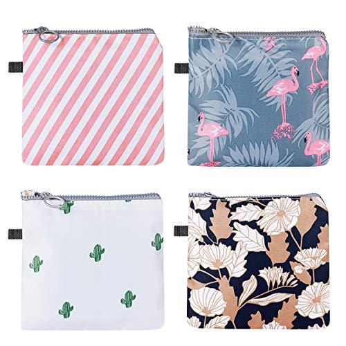 SUPVOX Bolsa de toallas sanitarias de 4 piezas tampones de bolsa de copa menstrual bolsas de recogida soporte de almohadilla de lactancia lavable para mujeres y niñas