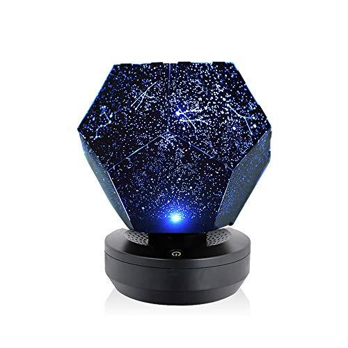 Galapar Romantic LED Starry Night Lamp 3D Star Proyector de luz para niños Dormitorio Constelación Proyección Inicio Planetario