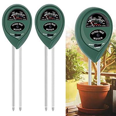 Amazon - 50% Off on  2 Pack, Soil Test Kit, Soil pH Meter, 3-in-1 Soil Tester Kits with Moisture, Moisture Meter& Water Monitor
