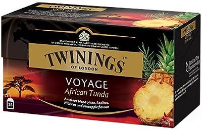 Twinings Voyage - Sélection Raffinée de Thé Noir Combiné avec des Ingrédients de Saveurs Exotiques - Mélanges Inhabituel et Originaux