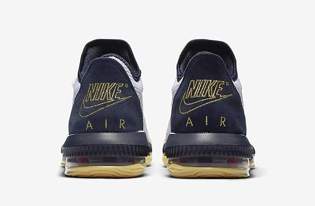 Amazon.com | Nike Lebron Men's XVI Low Basketball Shoes, (White ...