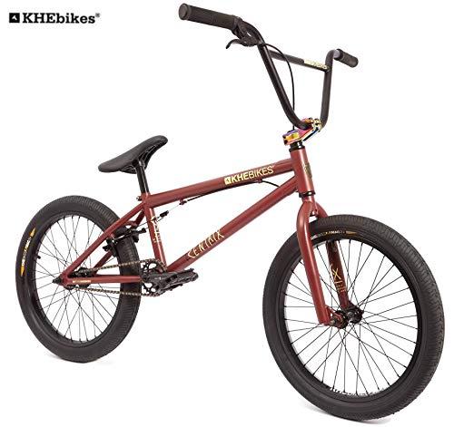 KHE Bicicletta BMX CENTRIX 20 pollici brevettata Affix 360° rotore solo 10,5 kg! Colore: nero/antracite/rosso/marrone., 1005-018-08, Rosso - marrone , 51 cm