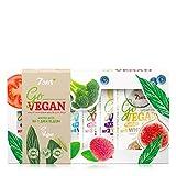 7DAYS Gift Set GO VEGAN Un kit de 7 mascarillas Componentes orgánicos Cuidado complejo durante una semana Todo tipo de piel Hidratación Antiarrugas