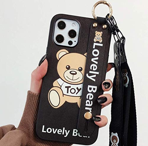 HEAVENBIRD Moschino Toy Lovely Bear 【 iPhone 12 & iPhone 12 Pro Case 】 Cartoon Cute Beautiful Lanyard Wristband Holder 6.1 inch Case 2020 (Moschino Toy Lovely Bear)
