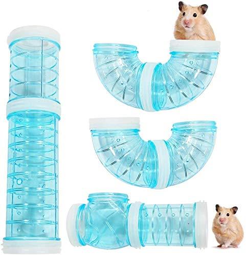 Röhren Für Den Tunnel Hamster, 8PCS DIY Hamster Cage Tube Hamster Spielzeug Hamster Cage Tubes Tunnel für Kleine Tierkäfig Externe Zubehör (Blau)