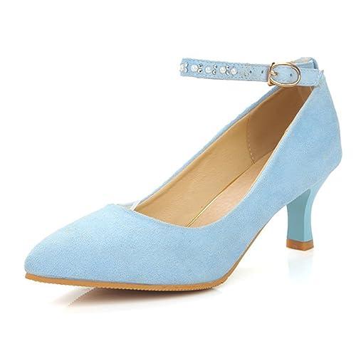 8561a5fe74473 Light Blue Rhinestone Heels: Amazon.com