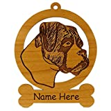 Boxer Head Uncropped Ornament 081949 Personalized With Your Dog's Name