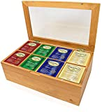 Twinings Holiday Variety Tea Bag Gift Sampler Basket Assortment Box, Peppermint Cheer, Holiday Berry, Christmas Tea, Winter Spice Gift for Family, Friends, Coworkers- With Bamboo Box (40 Count)