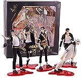 N / A Anime Figurine Michael Jackson King of Pop The World Tour Figura de acción de PVC peligrosa Modelo de Juguete de colección 5pcs / Set B con Caja-A (Color: B)