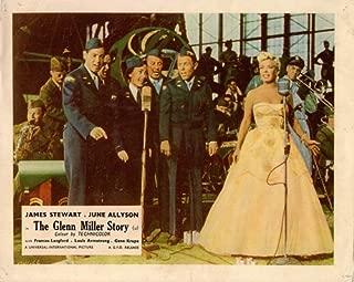 THE GLENN MILLER STORY ORIGINAL LOBBY CARD JAMES STEWART FRANCES LANGFORD 1954