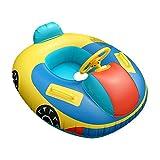 QHYK Inflable Niños Natación Círculo, Car Model natación Circle, Float Boat Anillo Raft Silla Piscina Juguete, Espesar PVC Manija de la Seguridad