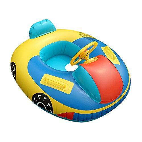 QHYK Baby Schwimmen Trainer Sitz, aufblasbarer Automobil Schwimmring, Lenkrad-Griff, Schwimmen-Spielzeug der Kinder