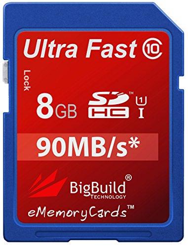 BigBuild Technology Tarjeta de memoria ultra rápida de 8 GB para cámara Canon Digital IXUS 185, clase 10 SD SDHC