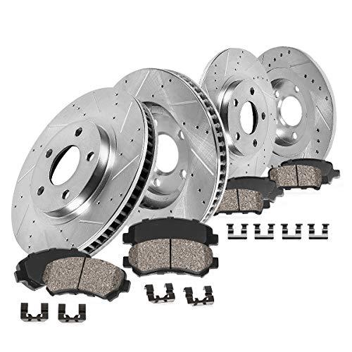 Callahan CDS02304 FRONT 288.29mm + REAR 232mm D/S 5 Lug [4] Rotors + Ceramic Pads + Clips [ fit VW Beetle Golf Jetta ]