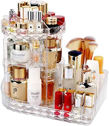 Rotierende kosmetischer Fall Damen Einfachen 360 Grad drehbare Kosmetik Acryl-Aufbewahrungsbehälter Startseite Frisierkommode Desktop-Racks Hautpflege Lippenstift Parfüm Make-up-Box 1y