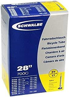 Schwalbe SV17 Presta Extra Long Valve 700C Inner Tube - Black, 28 Inch by Schwalbe