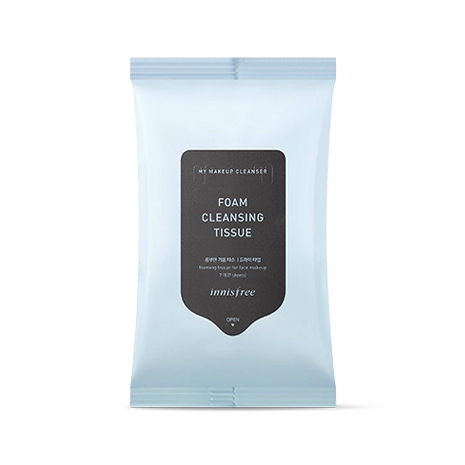 旋律的バウンスイブイニスフリーマイメイクアップクレンザー - フォームクレンジングティッシュx 1個 Innisfree My Makeup Cleanser - Foam Cleansing Tissue x 1pcs [海外直送品][並行輸入品]