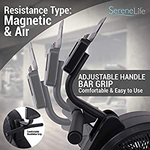 SereneLife Smart Rowing Machine-Home Rowing Machine with Smartphone Fitness Monitoring App-Row Machine for Gym or Home Use-Rowing Exercise Machine Measures Time, Stride, Distance, Calories Burned.
