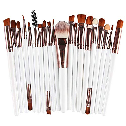 Make-up-Pinsel-Set, für Puder, Foundation, Lidschatten, Eyeliner, Lippen, Kosmetik, Make-up, ideal für den professionellen und täglichen Gebrauch, 20 Stück