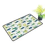 Alfombrillas para Puerta Exterior de Acuario, diseño de Flora Marina Fauna de Algas Marinas duraderas,