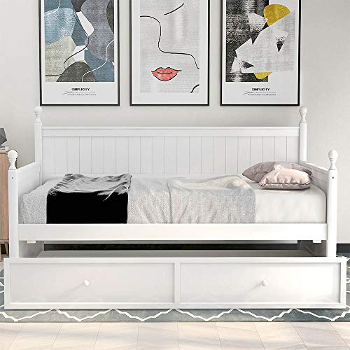 Autoshoppingcenter Double-use Sofa Bed Leisure Rest daybed Push and Pull Trundle Bed US Stock