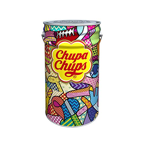 Chupa chups pot metal 150 sucettes collector anniversaire 60 ans
