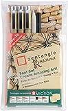Zentangle - Juego de utensilios para pintar 11 Renaissance, con rotuladores de punta fina Pigma Micron de Sakura, telas y lápices
