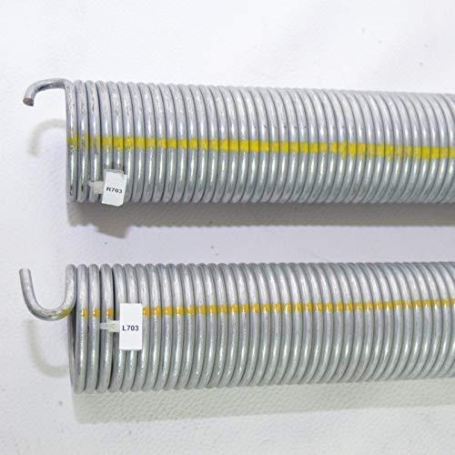 2 Stück Torsionsfeder R703+L703 / R22 für Hörmann Garagentor Garagentorfeder Torfeder