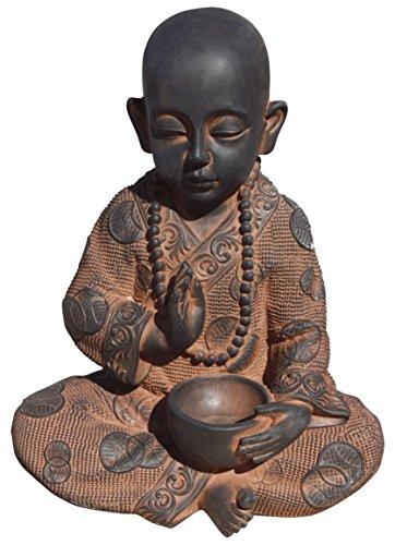 AnaParra Figura Buda Sabiduria para el jardín Decorativa 37cm. hormigón Óxido