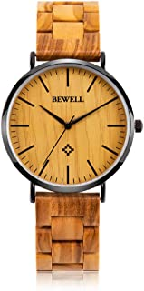 Ultra Thin Wooden Watches Fashion Minimalist Wood Watches for Men Analog Quartz Wrist Watches