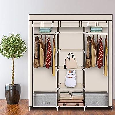 Teeker 69'' Portable Clothes Closet Non...