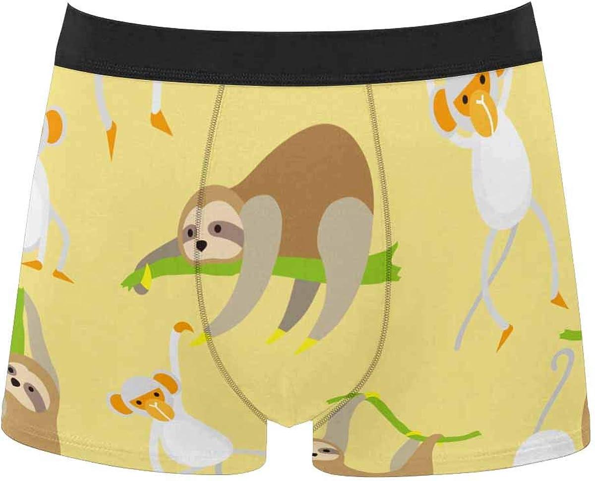 InterestPrint Men's Classic Polyester Boxer Breathable Briefs Shorts Underpants Cute Little Unicorn