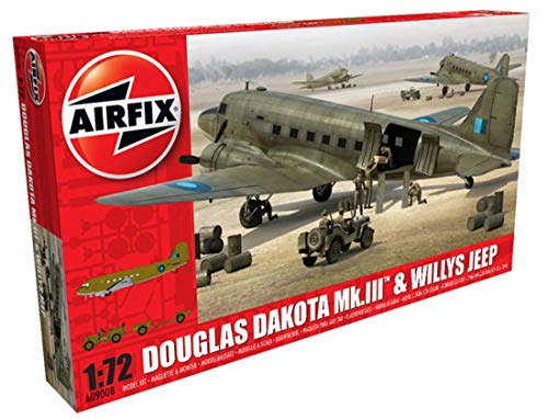 Airfix - Kit de modelismo, avión Douglas Dakota MkIII with