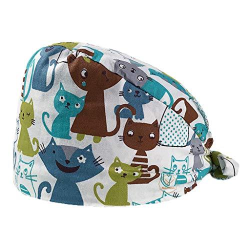 HROIJSL Haube Chirurgische Hut Baretthauben mit Schirm One Size Stoffhaube Medizinische Kopftuch Verstellbar Medizinische Kappe OP