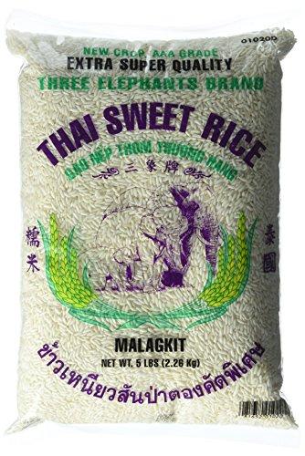 Three Elephants Thai Sweet Rice 5 Pound, 80 Ounce