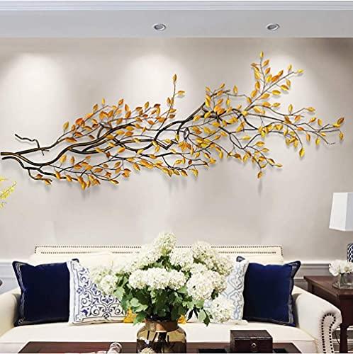Wanddecoraties metalen vogels op takken Wall Art Decor, 3D abstracte sculpturen kleine vogel tak muur opknoping, slaapkamer woonkamer tuin binnenplaats Hotel muur decoratie, 12050Cm