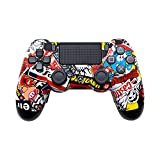 AimControllers PS4 Custom Wireless Controller, Playstation 4 Personalized Gamepad with 4 Paddles - Sticker Black no remapping
