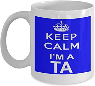 shaniztoons Keep Calm I'm a Teacher Teaching Assistant Gift Mug