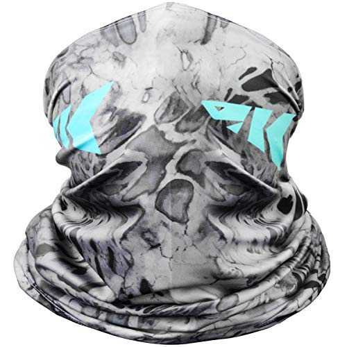 KastKing Sol Armis Neck Gaiter - UPF 50 Face Mask - UV Sun Protection Gaiter Sun Mask for Men & Women, Fishing, Hiking, Kayaking Mask, Prym1 Camo, RocketPop,19x9.5 Inches,Silver Mist,19x9.5 Inches