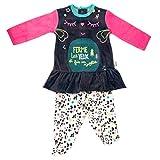 Pijama bebé 2piezas con patas Wish–Talla–6meses (68cm)