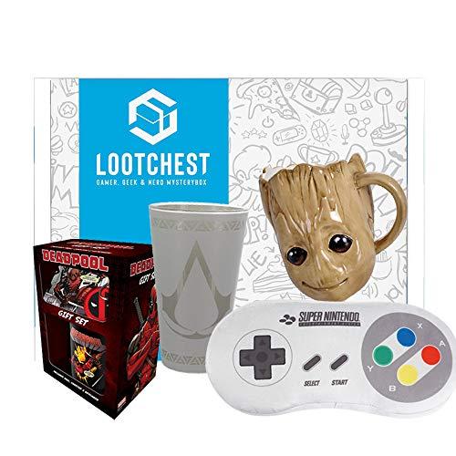 lootchest Jumbo - Überraschungsbox für Gamer und Nerds (inkl. T-Shirt) (Men Large)