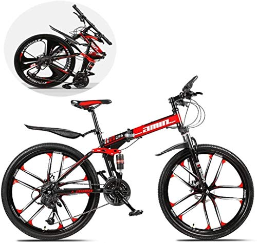 Check Out This HongLianRiven BMX Mountain Bikes,26 Inch Folding 21/24/27/30 Speed Double Shock Absor...
