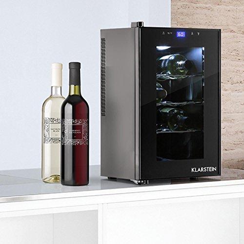 Klarstein Reserva Piccola - Weinkühlschrank, Getränkekühlschrank, 25 Liter, 8 Flaschen, 3...