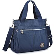 Tote Bag,Nylon Lightweight Handbags for Women with Multi-Pocketed by ZYSUN (Blue)