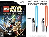 Nintendo Wii Lego Star Wars Complete Sage Game + Dual Glow Sabers [Wii]