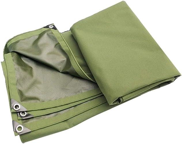 Gxmyb Bache Bache antipluie avec Oeillets épaissir auvent imperméable d'isolation de Tissu de Hangar de Feuille de bache imperméable - 620g   m2, Vert (Taille   2mx4m)