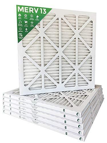 18x22x1 MERV 13 (MPR 2200) Pleated AC Furnace Air Filters. Box of 6