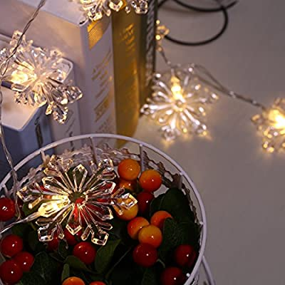 Excelvan Low Voltage 31V 1.3m/4ft Crystal Snowflake String Lights